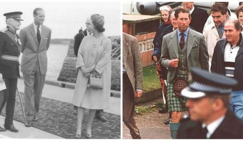 Queen Elizabeth and Prince Philip visit Cromarty in 1964, and Prince Charles visited the town in 1994. Photographs via: http://www.thecromartyarchive.org