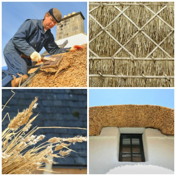 The Trust maintains the traditional thatched roof of the birthplace cottage