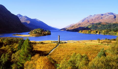 A view of the Glenfinnan Monument