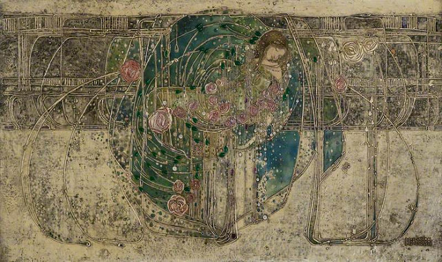 """""""Sleeping Princess"""" gesso at The Hill House by Margaret MacDonald"""