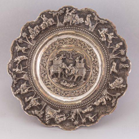 Ceramics & Porcelain Vintage Antique Shakespearean Decorative Scene Porcelain Plate To Prevent And Cure Diseases Plates & Chargers