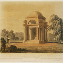 Historic photo of Burns Mausoleum in Dumfries