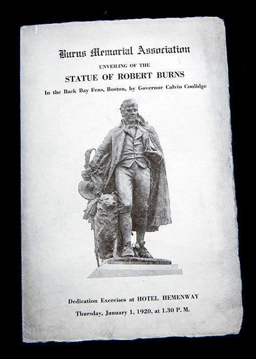 1920 Burns Statue dedication program