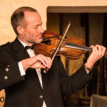 Scottish violinist Alistair McCulloch playing historic Burns violin.