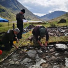 NTS archaeologists on-site at Glencoe