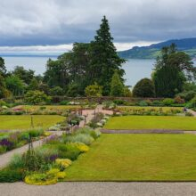 View of the Walled Garden and Brodick Bay